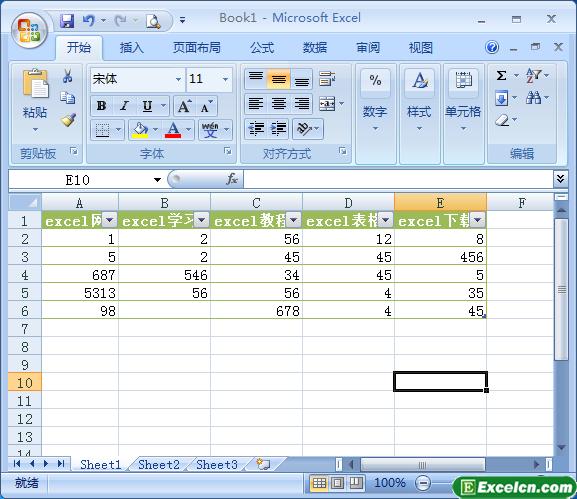 excel表格样式的效果