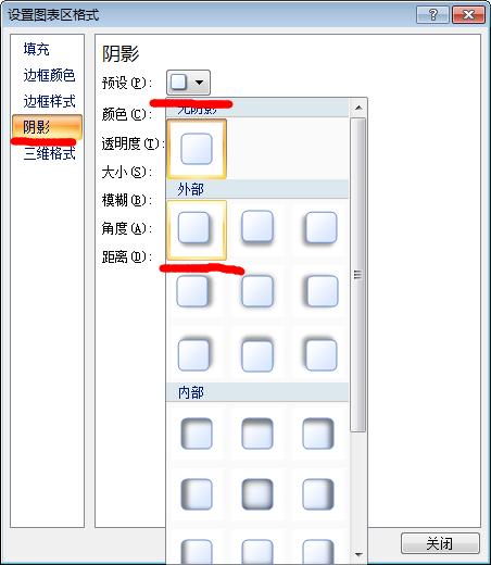设置excel图表区格式对话框