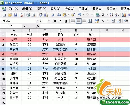 利用Excel的高级筛选巧妙删除重复记录