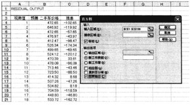 Excel残差分析
