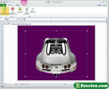 Excel2010去除图片背景