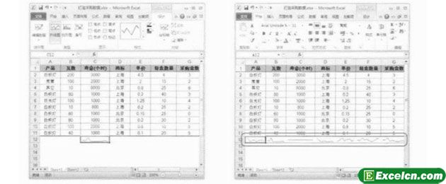 Excel2010中的数据分析小迷你图功能
