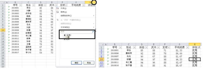 Excel2010自动筛选方法
