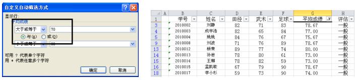 Excel2010的自定义筛选功能