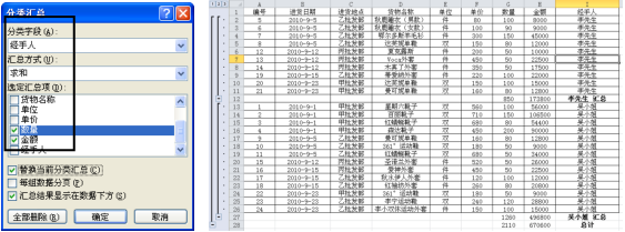 Excel简单分类汇总