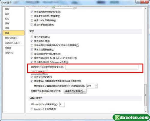 启动excel2010的同时打开多个文件