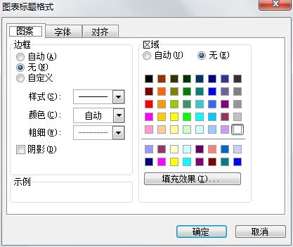 Excel2003图表标题格式