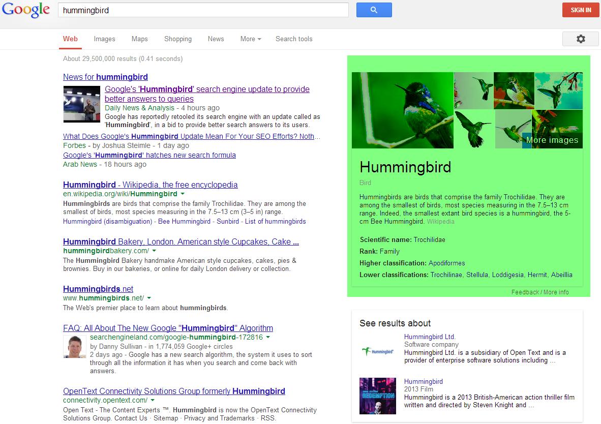 谷歌知识图谱