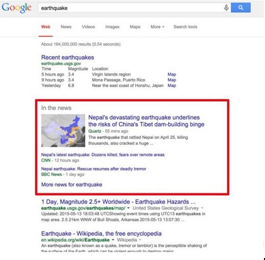 google SEPR